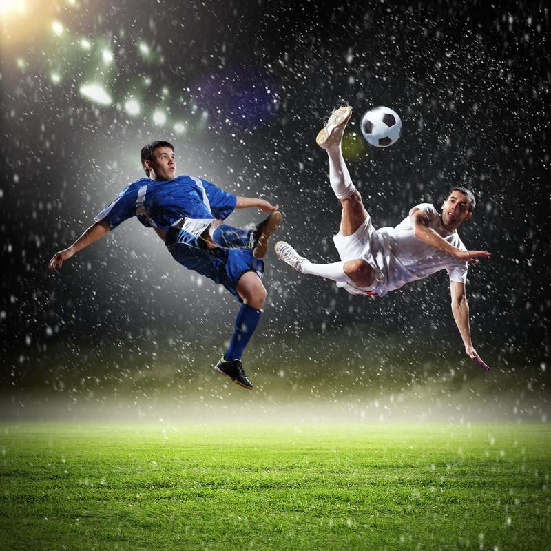 サッカーの攻防